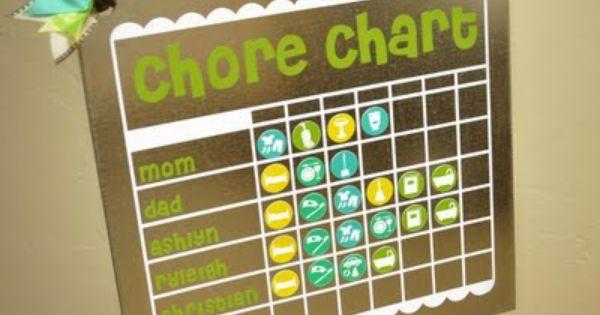 magnet chore chart | Chore Chart ideas