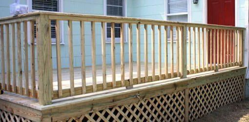Watch This Video To Learn How To Build Deck Handrails For A Wooden Deck The Easy Way Along With The Proper R Deck Railing Design Building A Deck Deck Handrail