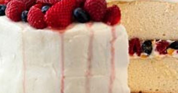 Orange Layer Cake With Buttercream Frosting And Berries Recipe ...