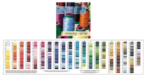 Isacord Polyester Thread Charts Two Styles To Choose From Embroidery Software Machine Embroidery Sewing Supplies