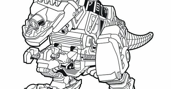tyrannosaurus rex coloring page - power rangers