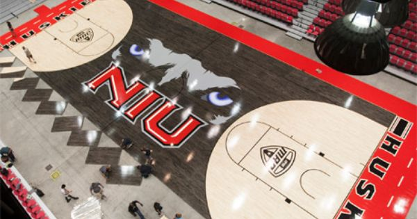 The Eyes Have It Huskies Unveil New Basketball Floor