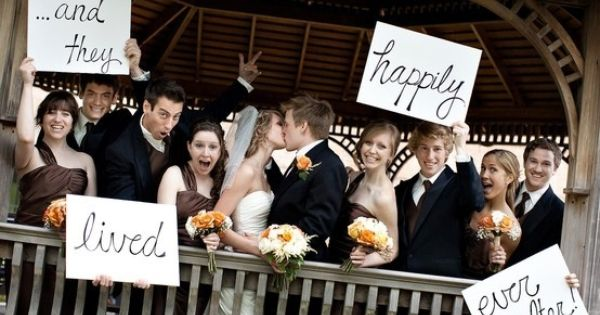 A cute wedding picture idea for with us with our awesome wedding