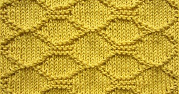 Knitted Quilt Block Patterns : Block quilting on a stockinette stitch background baby