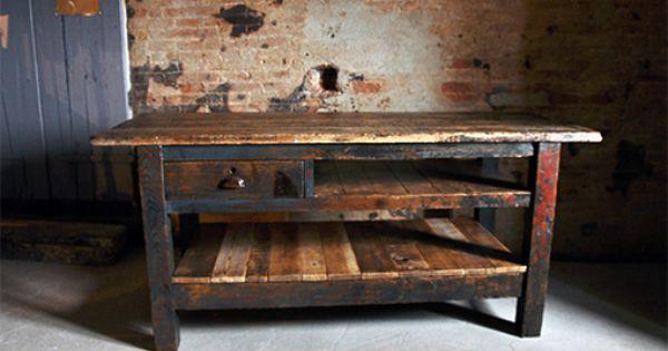 Interior design recupero vecchio tavolo da lavoro - Tavolo lavoro cucina ...