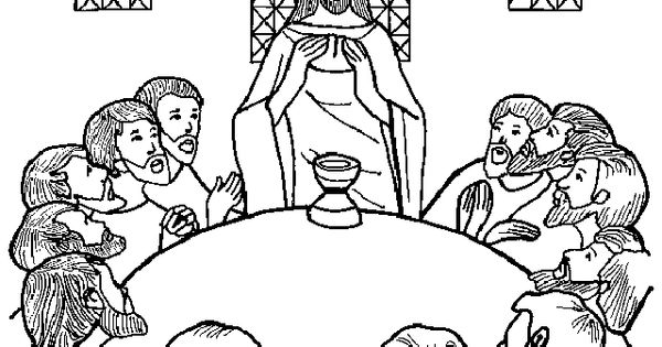 Holy thursday coloring pages printable