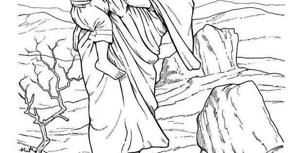 hagar and ishmael coloring pages - photo#10