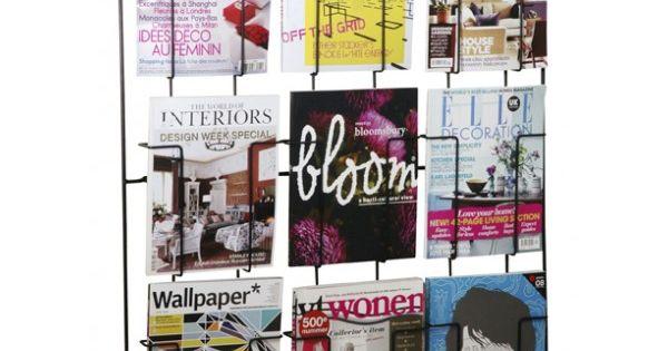 Een decoratieve manier om al je tijdschriften op te bergen is dit 9 vaks rek voor ruim 21 - Cabine slaapkamer meisje ...