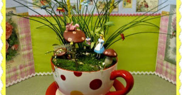 Alice In Wonderland Fairy Garden My Zetta 39 S Aprons Board Pinterest
