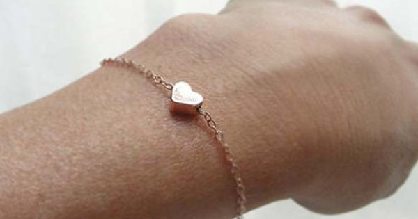 Rose Gold Heart Bracelet, to match the rose gold earrings i received