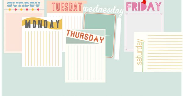 free printable project life journaling cards...