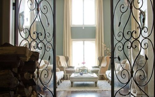 Wall Colors, Interiors Doors, The Doors, Living Rooms, Wrought Irons Doors, French
