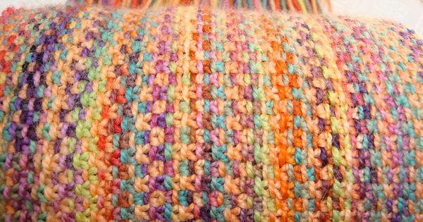 Koigu Linen Stitch Scarf. KNITTED Linen Stitch