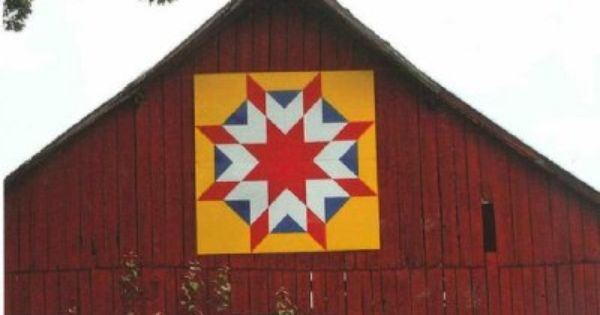 Quilt Patterns On Barns In Ky : Free Barn Quilt Patterns barn quilt of Simpson County Kentucky Books Worth Reading ...