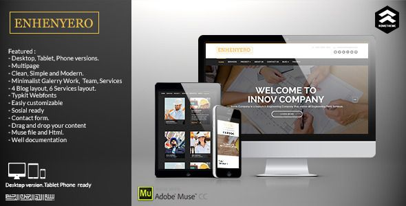 Enhenyero Engineering Industrial Muse Template Blog Layout Templates Website Template