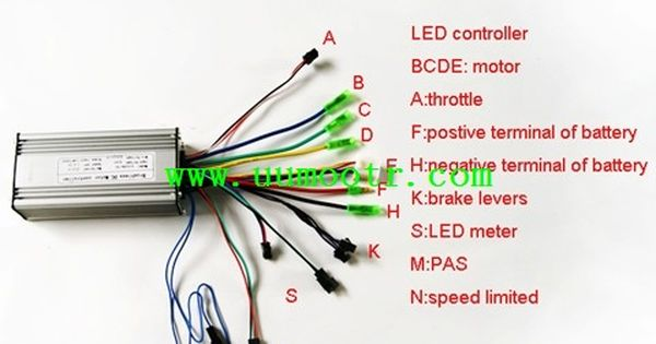 Electric Bike Controller Wiring Diagram In Addition Electric Motor Wire Connectors Additionally Electric Bicycle Electric Bicycle Electricity Electric Scooter