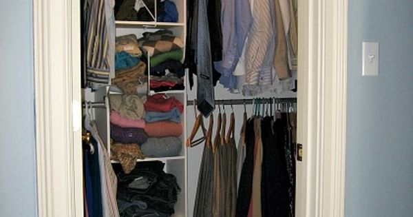 small walk in closet need two his hers would like to fit small dressers in that we have. Black Bedroom Furniture Sets. Home Design Ideas