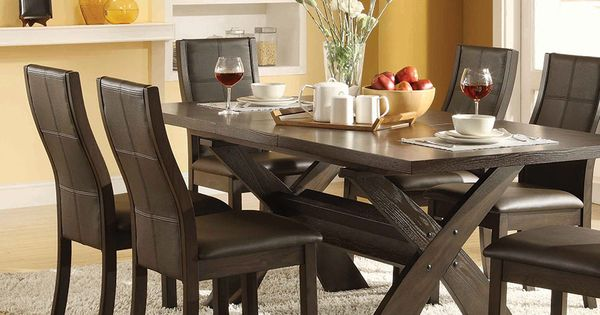 Divine Xenia 7 Piece Dining Set Costco Dining Table