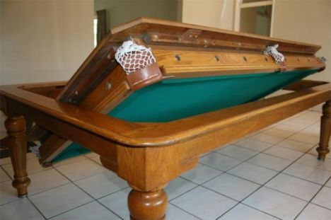 Flip For Fun 4 Clever Pool Tables That Convert Transform Dining Room Pool Table Pool Table Dining Table Pool Table Room