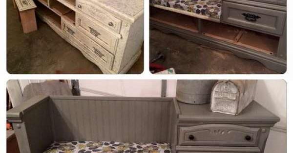 15 transformations poustouflantes de vieux meubles for Recuperation de vieux meubles