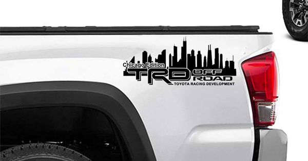 Toyota Racing Development Trd Chicago Edition 4x4 Bed Side Graphic Decals Stickers 2 Toyota Racing Development Toyota Trd
