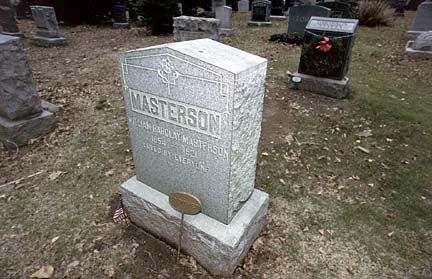 Bat Masterson S Grave Stone He Is Buried In New York City Old West Photos Old Cemeteries Famous Graves