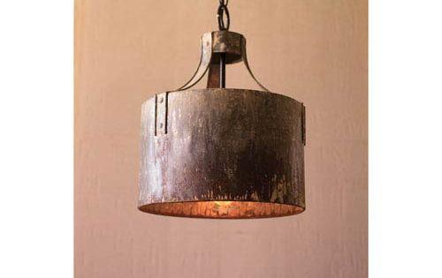 Metal Cylinder One Light Pendant Light Kalalou Drum Pendant Lighting Ceiling Lighting Rustic Pendant Lighting Cylinder Pendant Light Pendant Light Fixtures