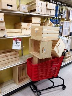 Next Time You Re At Michaels Grab A Few Storage Crates And Copy This Woman S Simple And Clever Idea Crate Storage Diy Storage Wood Crates