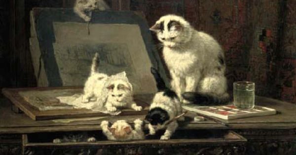 The Pampered And Playful Cat Paintings Of Victorian Era Artist Henriette Ronner Knip Cat Painting Cat Artwork Cat Art