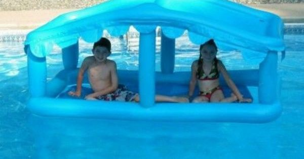 Floating Swimming Pool Sun Shade Canopy Cabana Inflatable Pool Gifts Sun Shade Canopy Inflatable Pool