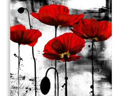 Line Of Poppies Wall Art Bedbathandbeyond Com Bathroom