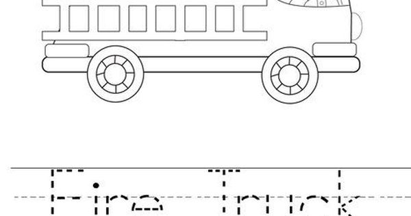 Fire Truck coloring pages with