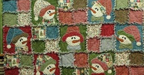Rag Quilt Ideas Pinterest : http://heartnhomecreations.wordpress.com/quilting-kits/frosty-friends-rag-quilt/ Rag Quilt ...