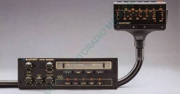 Blaupunkt Berlin Car Stereo Tuner On Cobra Style Stick Connected To Dolby Equipped Auto Reverse Cassette Player Car Stereo Car Audio Vintage Electronics