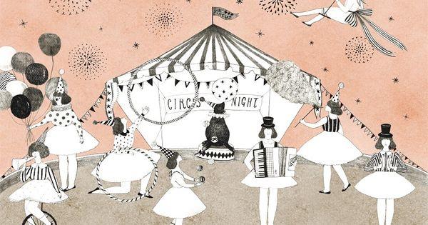 Affiche d co th me cirque illustration enfant th me cirque dessins pinte - Affiches decoration interieure ...