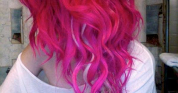 Curly pink hair ♥ pink hair