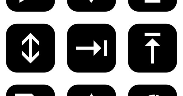 Browsing All Icon Sets Style Flat Rounded Square White On Black Icon Set Icon Square