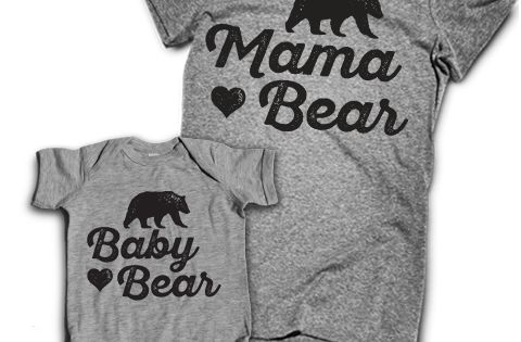 Mama Bear Baby Bear Onesie Be Cool Mom And Awesome