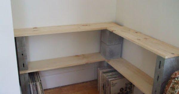 Highgate How To Build A Custom Shelf For Your Vinyl Cinder Block Shelves Cinder Block Furniture Shelves