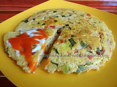 Resep Telur Dadar Tahu Omelet Enak Simpel Telur Dadar Resep Masakan Resep Masakan Indonesia