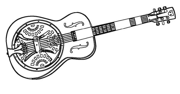 Resonator Guitar Guitar And Coloring Pages On Pinterest
