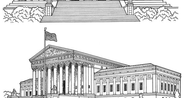 Lincoln memorial supreme court building dover teacher for Lincoln memorial coloring page