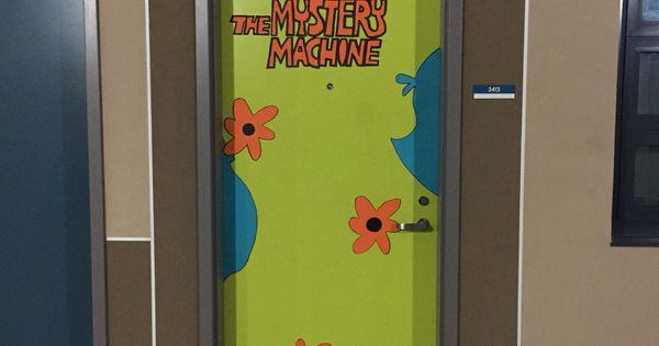 Halloween College Dorm Door Decorations The Mystery