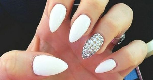 Unique Nail Design Ideas White Stiletto Nails