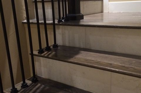 Porcelain Wood Tile Stairs Google Search Stairs Pinterest Faux