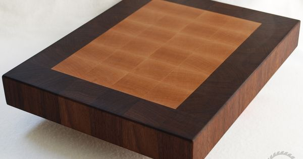 Cutting Board Solid Walnut and Maple End Grain Butcher