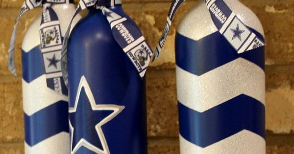 Dallas Cowboys Wine Bottles Football Decor By