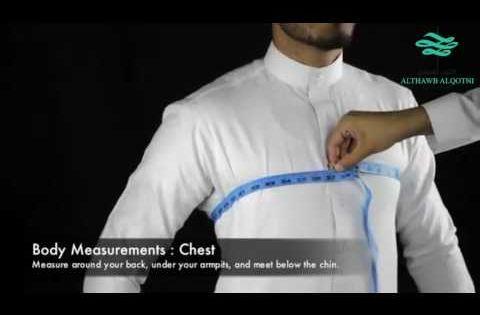 طريقة أخذ مقاسات الثوب الثوب القطني للخياطة الرجالية Youtube In 2021 Body Measurements Body Thobe