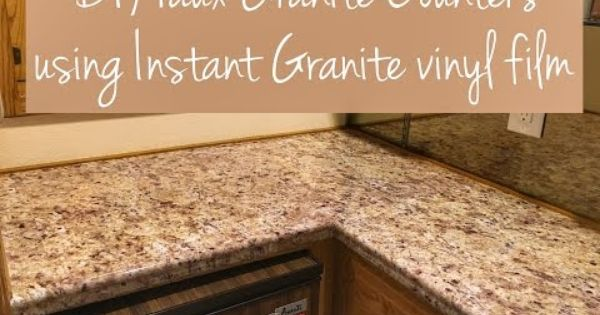 Diy Faux Granite Countertop Youtube Fake Granite Countertops