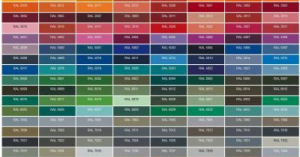 RAL color palette Vespa | PX | Pinterest | Ral colours ...